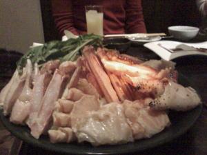 カニの鍋〜mixiのオフ会の様子