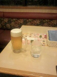 ジョナサンでビール